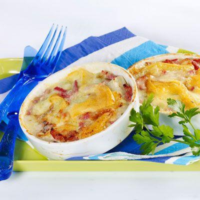 Découvrez la recette Poireaux en tartiflette sur cuisineactuelle.fr.