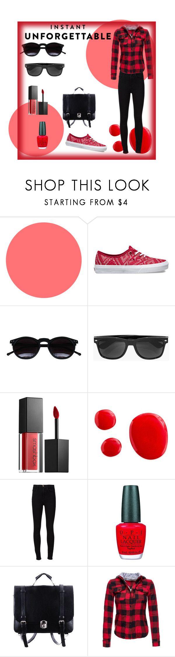 """Shades of You: Sunglass Hut Contest Entry"" by ini-ans-bg ❤ liked on Polyvore featuring Vans, Chicnova Fashion, Boohoo, Smashbox, Frame Denim, OPI and shadesofyou"