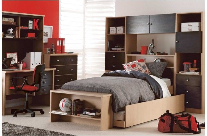 Love the bed and head board book shelf. Two tone wood, think it's a winner for JB's big boy bed    Candy Single Bed