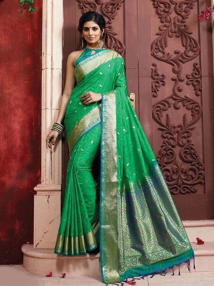 Traditional Bollywood Designer Indian Saree Pure Silk Fabric Sari With Zari Work #Handmade #sareesari