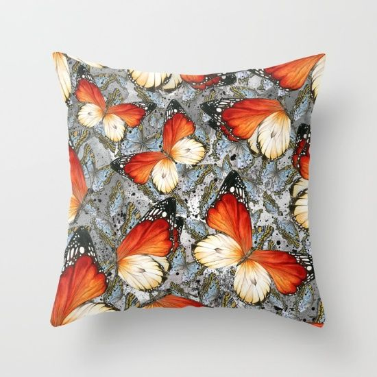 #butterflies #pattern #pillow Available in different #giftideas products. Check more at society6.com/julianarw