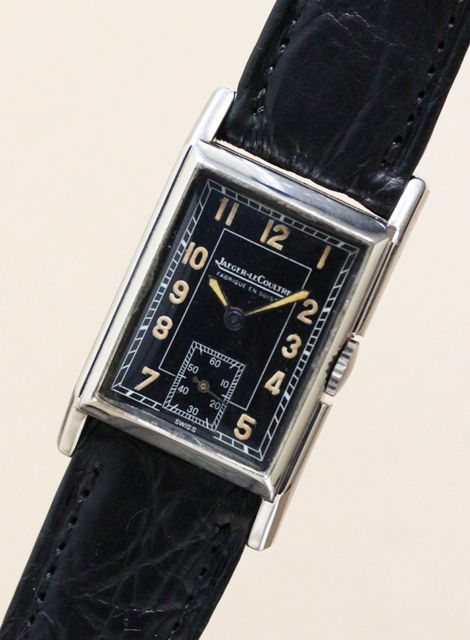 Jaeger lecoultre rectangle 1940 39 s vintagewatch jaegerlecoultre watches in 2019 for Jaeger lecoultre kinetic