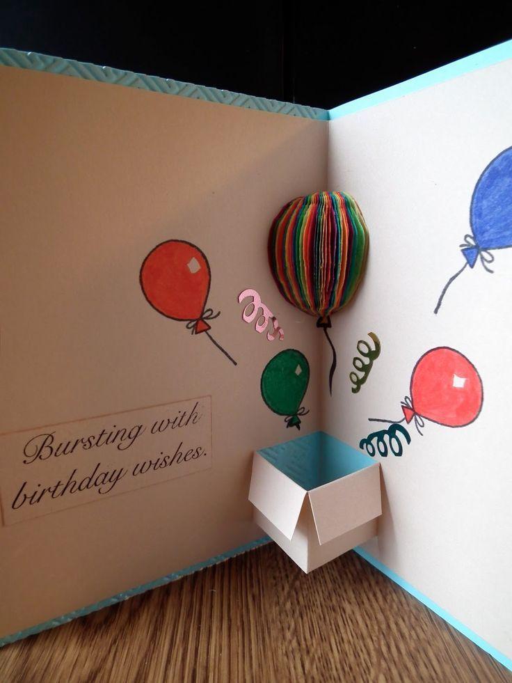√41 + Handmade-Ideen für Geburtstagskarte mit B…