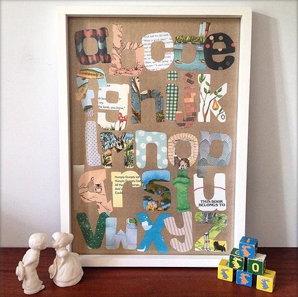 Vintage print letters - swoon!  Vinty.co.nz