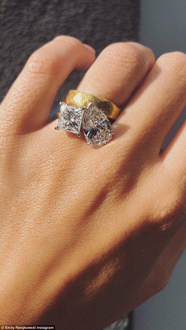 Emily Ratajkowski flaunts MASSIVE engagement ring for