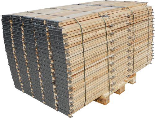 Pacco collari in legno pieghevoli - Parietali in legno in pronta consegna
