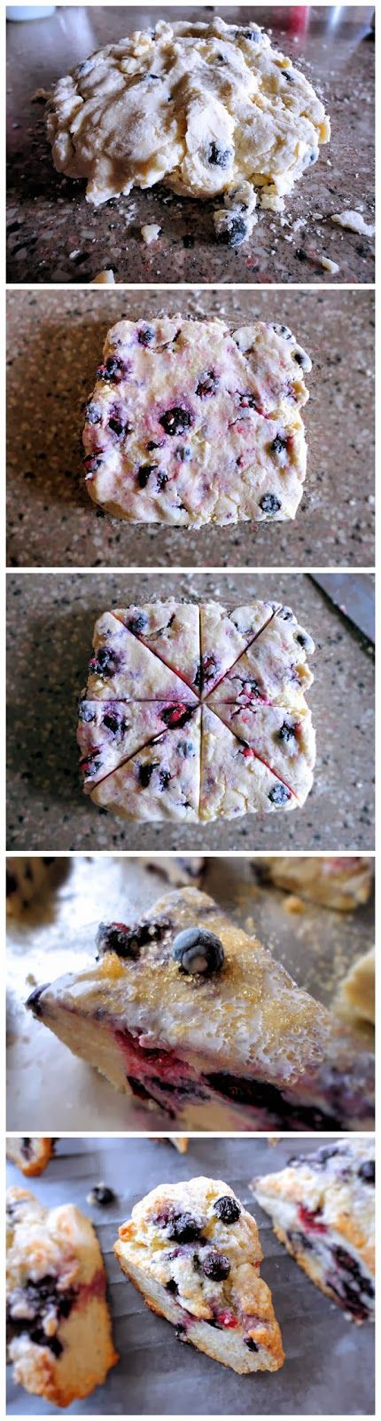 Blueberry Scones. The best scones recipe I have come across!