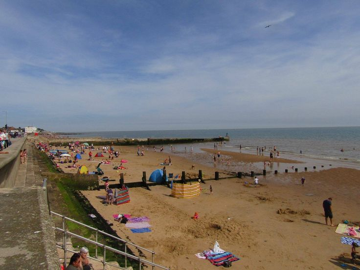 Walton-On-The-Naze Essex England on August Bank Holiday Weekend 2017