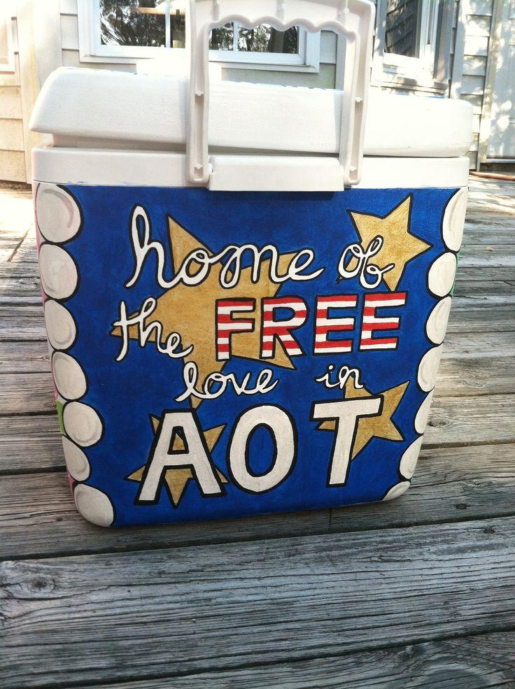 Kappa Delta painted cooler, AOT!!