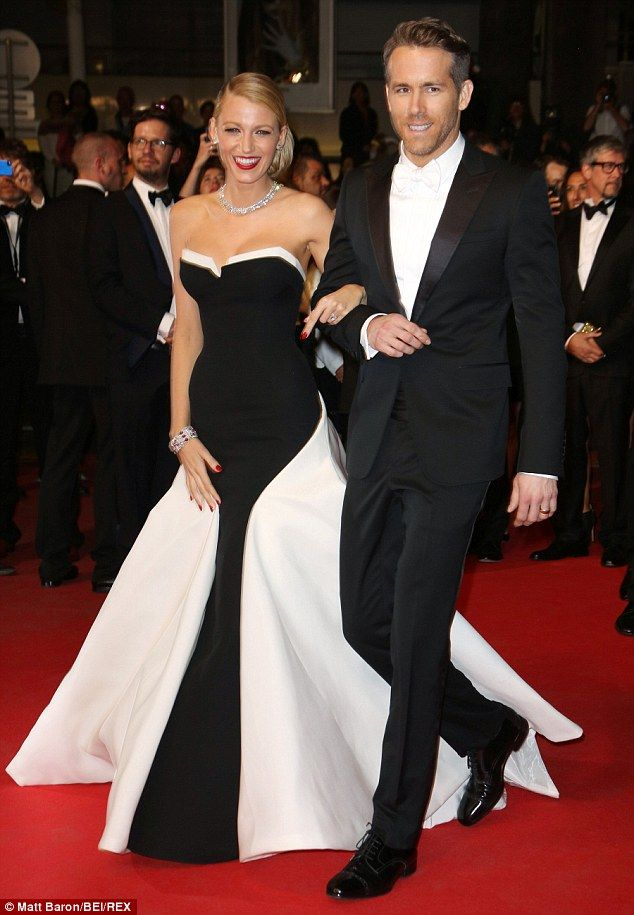 New parents: Ryan married the former Gossip Girl star in 2012 (seen here at Cannes in May), having had previous relationships with Scarlett Johansson and Alanis Morissette