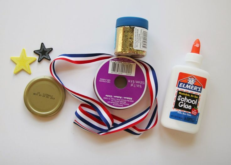If you have restless kids at home who need a fun activity, get in the Olympic spirit with these DIY medals! They can hold their own Olympic games and enjoy awarding each other with the gold, silver or bronze. The best part is that they are so cheap and easy to make! All you will need are some jar lids, ribbon, glue, glitter and foam