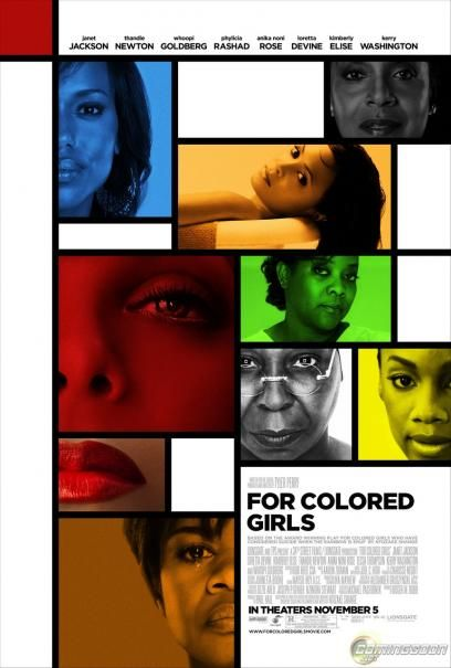 """FOR COLORED GIRLS (based on the play """"For Colored Girls Who Have Considered Suicide When The Rainbow Is Enuf"""")    """"Did you know somebody almost got away with me? Me, in a plastic bag under his arm."""""""