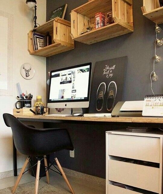 basement office setup 3. An Office Space Doesn´t Need To Be Always With A Neutral Pallet. Give Some Color Your Work Space. Basement Setup 3 E