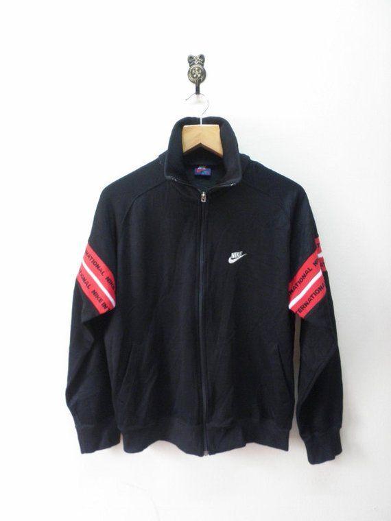 0ce56a612b239 Vintage Nike International Zipper Trainer Japan Blue Tag Jacket ...
