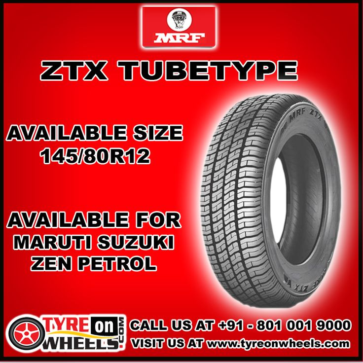 Buy MRF ZTX Tube Type Car Tyres Online at Guaranteed Low Prices with free shipping across India also get Mobile Tyres Fitting Services at your home now buy at http://www.tyreonwheels.com/car/tyre/145/80/12/car_manufact/vs/13/Mumbai
