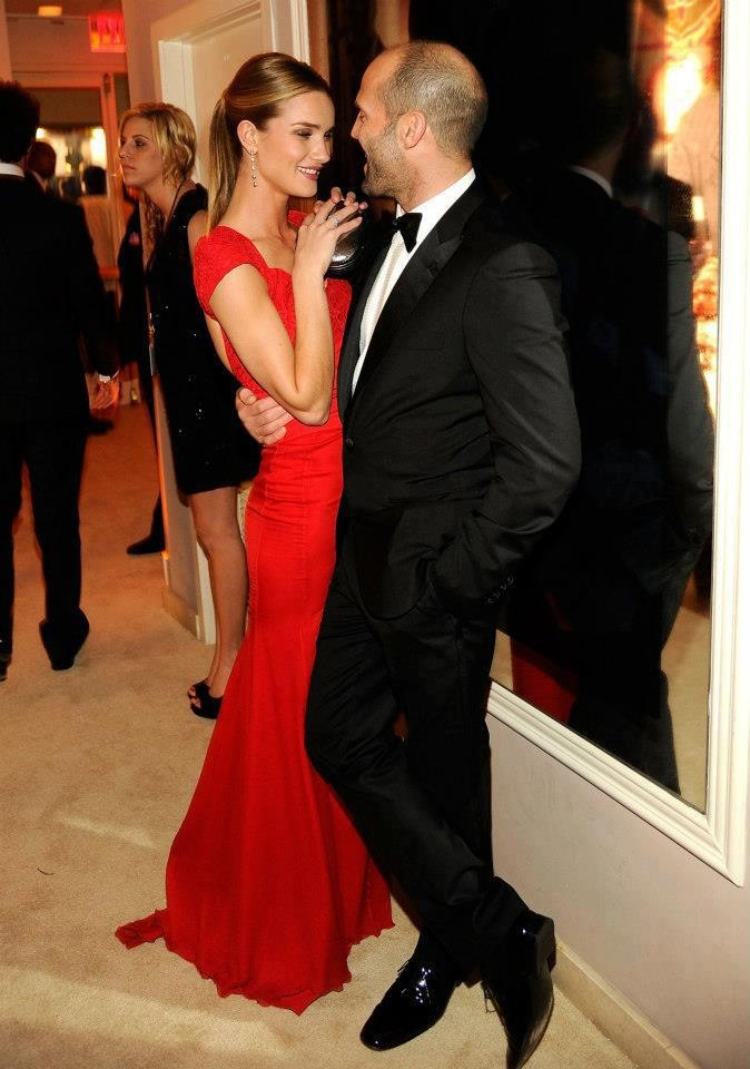 Rosie Huntington Whiteley and Jason Statham <3