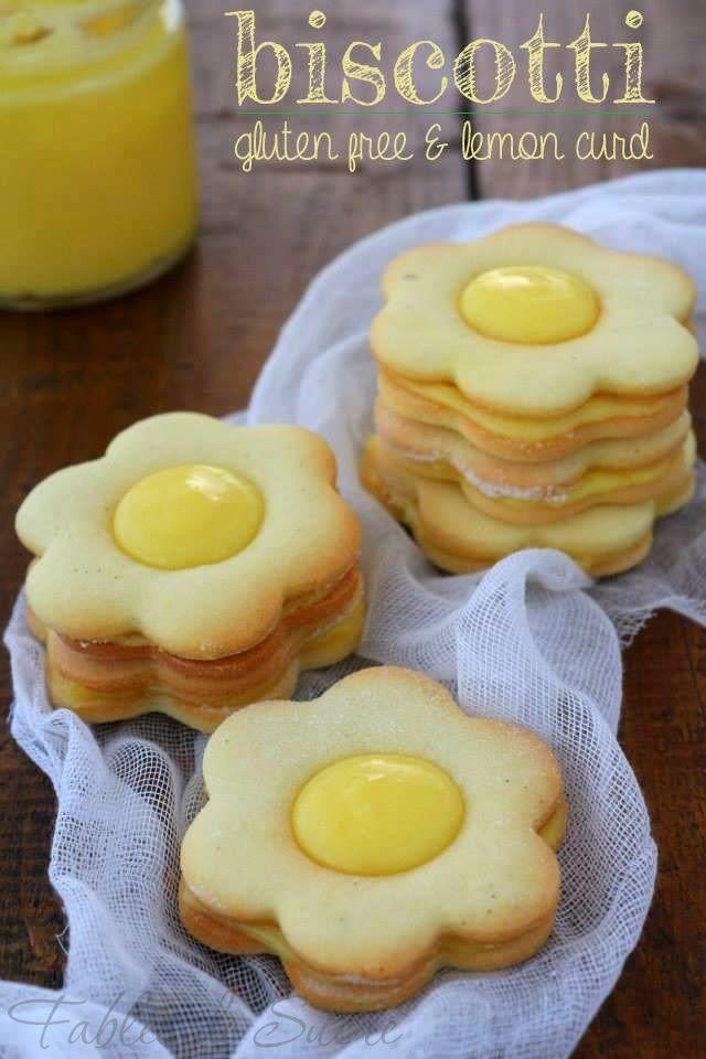 Biscotti gluten free e lemon curd