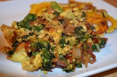 Tofu Scramble (with Spinach and Nutritional Yeast)