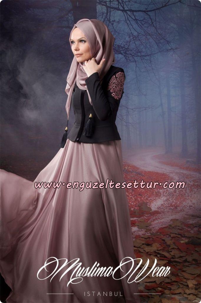 2a4b0d9fd681e Pin by Rebecca K on Hijab/ Modest Fashion   Elbise modelleri, Siyah etek,  Elbiseler