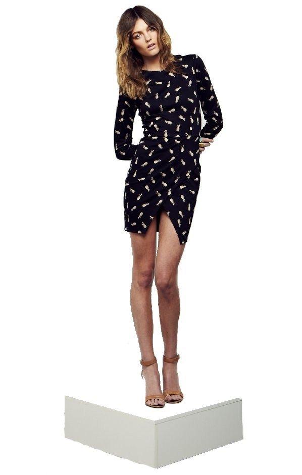 Maurie and Eve Madison Long Sleeve Dress Pina | ARCHFASHION
