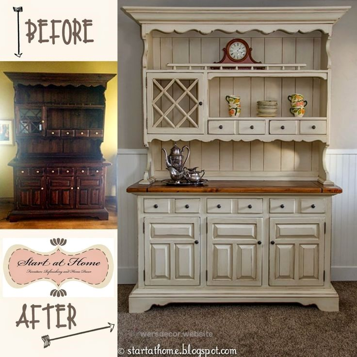 Best 25 hutch makeover ideas on pinterest painted hutch for Painted dining room hutch ideas
