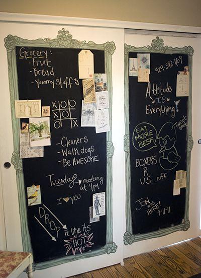 Diy Chalkboard Pantry Doors