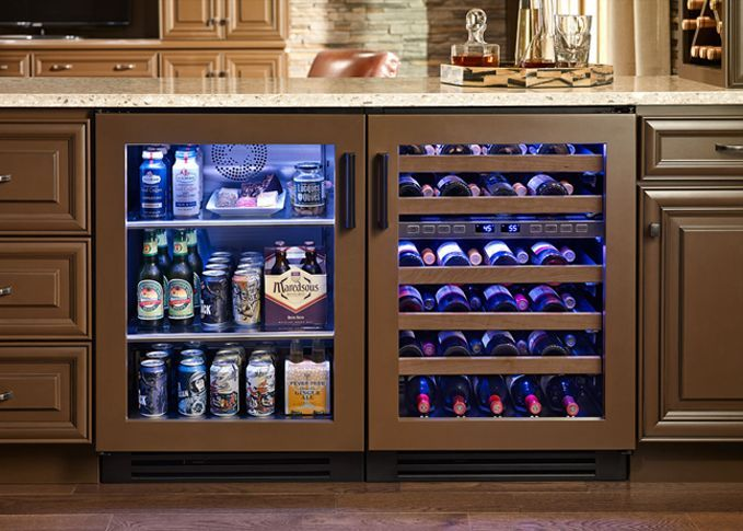 Image result for bar with undercounter kegerator and fridge