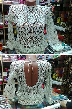 Шикарная блузка крючком. Блузка крючком с открытой спиной | Домоводство для всей семьи
