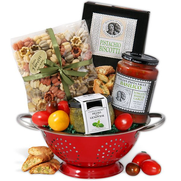 Send the taste of Italy with this Italian gift basket, which boasts handmade artisan pasta and classic sauce!
