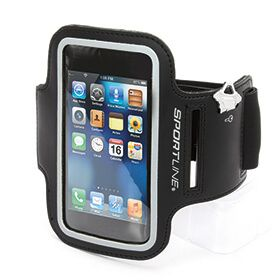 Sportline Smartphone Armband The Sportline Smartphone Armband is the perfect running or walking partner, rain or shine. An EB Brands product Highly reflective to be sure you are seen Adjustable band fits most arm sizes Small pock http://www.MightGet.com/january-2017-13/sportline-smartphone-armband.asp