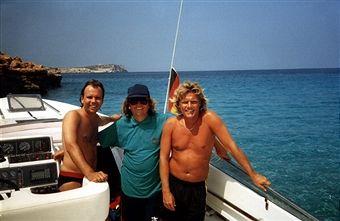 Frank Farian (Musikproduzent), Dieter Bohlen (re.), Andre Sellen ...