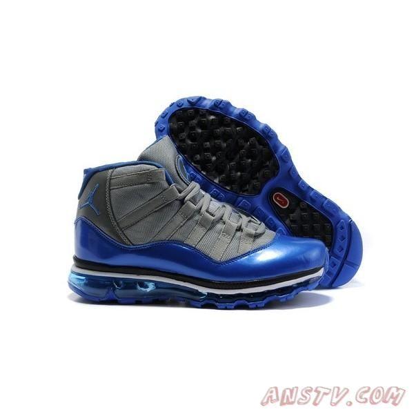 Nike Air Jordan 11 Fusion Max Bleu Noir Gris Hommes Air Jordan Homme