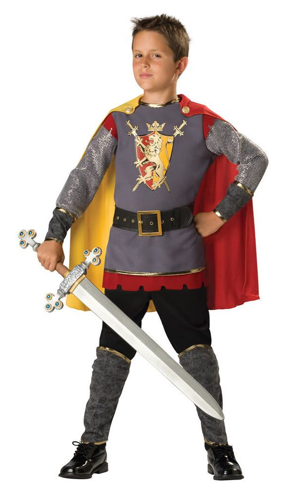 Child Size 4 Kids Deluxe Medieval Knight Costume - Knight Costumes