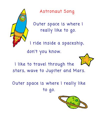 The Very Busy Kindergarten Astronaut Song for Calendar Time