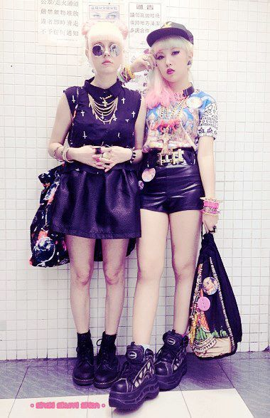 pastel grunge girls