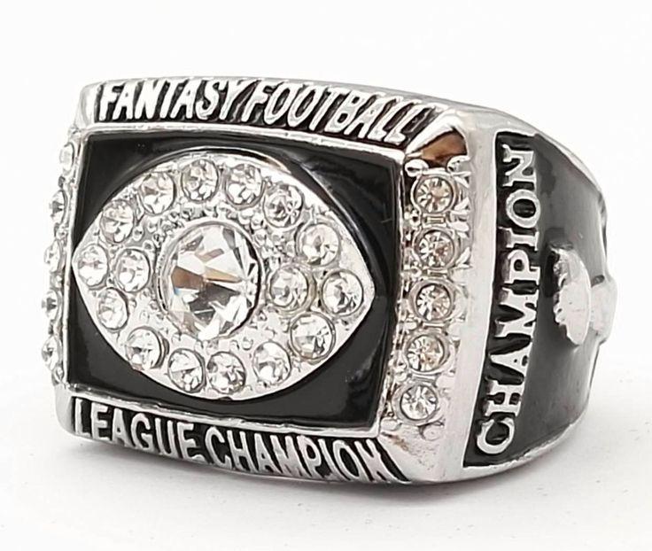 Promotion 2016 Fantasy Football Super Bowl Zinc Alloy Silver Plated Custom Sports Replica World Championship Ring