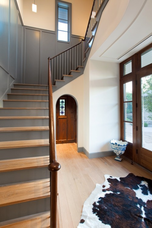 Really like the two tone stairs - would do tops white in our case