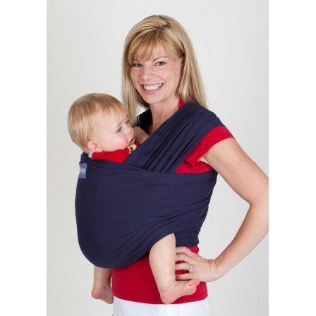 Echarpe Boba wrap bleu marine.    Les avantages de la Boba wrap: une utilisation facile, un effet rebond quasi-inexistant, un confort et une douceur exceptionnelle.   Fournis: sac de rangement, livret explicatif.