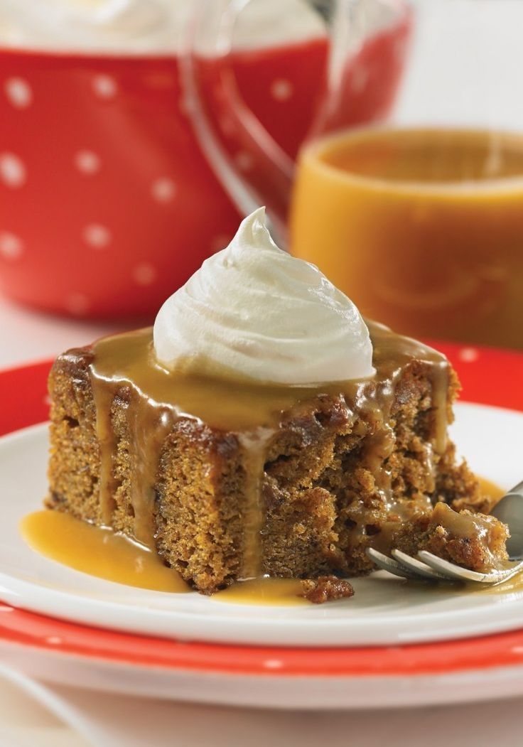 Sticky toffee pudding is a British dessert consisting of moist cake with a decadent toffee sauce. This is a simplified recipe for the classic dessert.