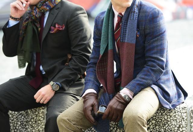 Scarfs + gloves + pocket handkerchiefs!