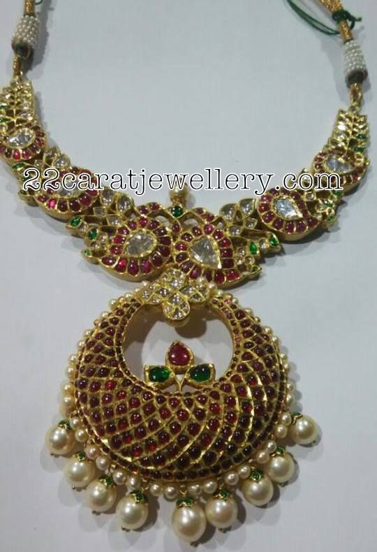 Chandbali Style Mango Necklaces - Jewellery Designs