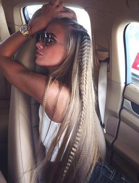 причёски из гофрированных волос crimped hair