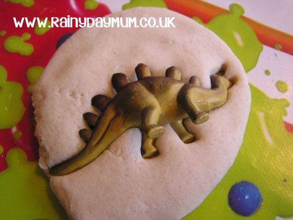 Creating Salt Dough Dinosaur Fossils