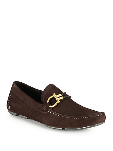 Salvatore Ferragamo - Suede Driving Loafers