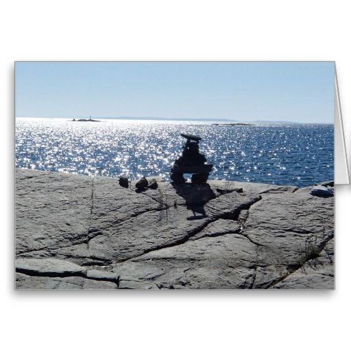 Custom Greeting Card- Inukshuk Island