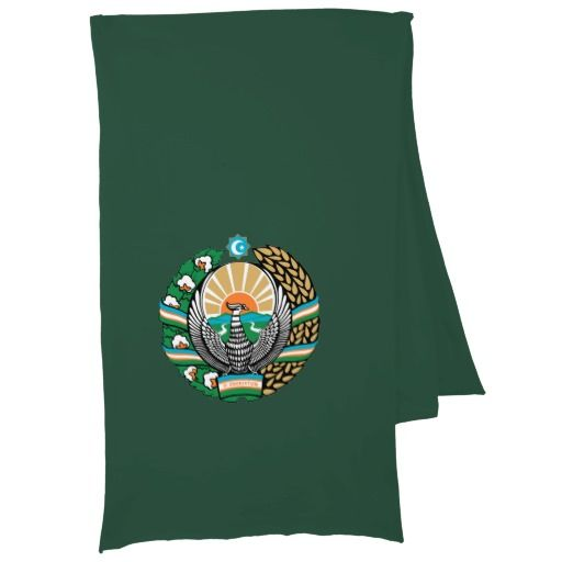 Uzbekistan coat of arms scarf wrap