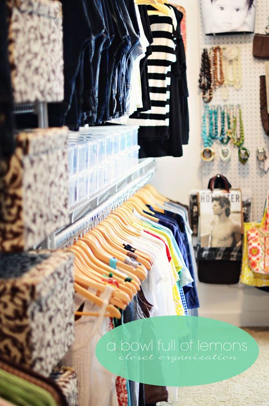 How to organize the master closet | A Bowl Full of Lemons  Someday I want an organized closet like this!