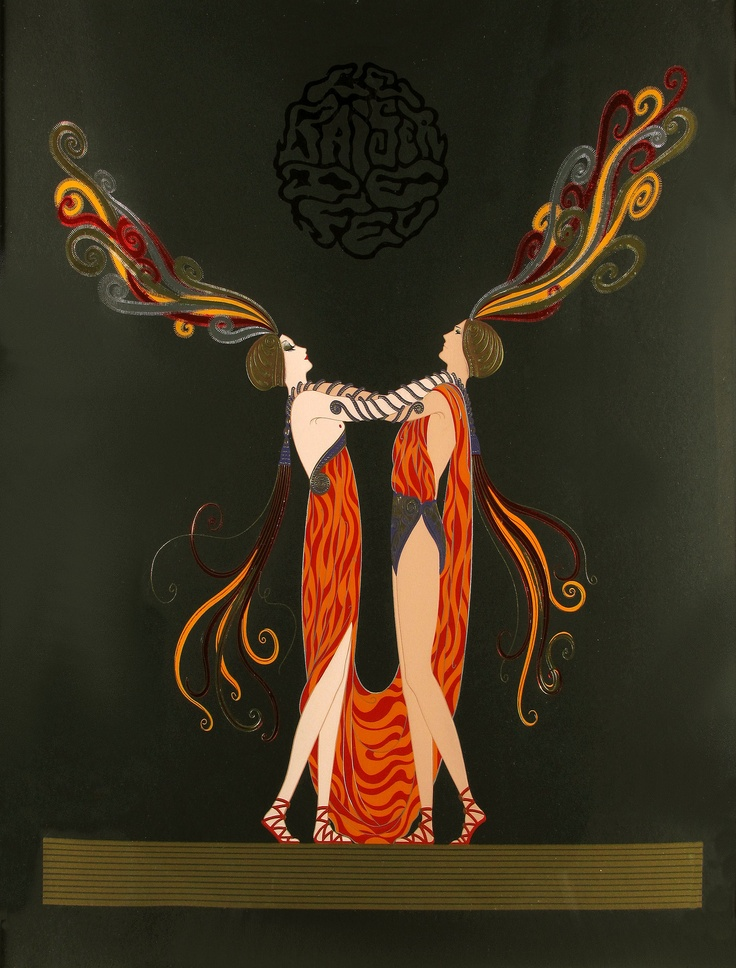 Erte, Kiss of Fire, Serigraph on Paper, Limited Edition
