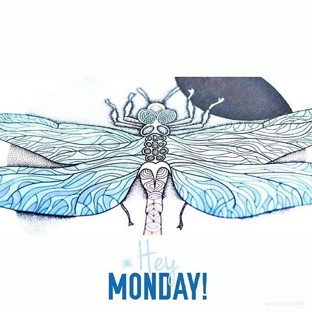 The #blue #dragonfly and #monday :) #agakubish #coloringbook #colour #kolorowanka #kolorowankidladorosłych #illustration  #graphic #graphicdesign #design #ink #tattoodesign #winds #art #artwork #walldecor #decoration #poster #doodle #sketch #handdrawn #sakuraofamerica