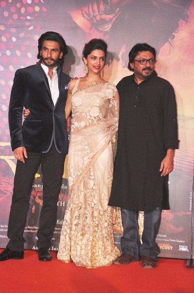 Ranveer, Deepika and Sanjay